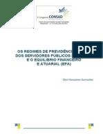 Os Regimes de Previdência Social Dos Servidores Públicos Do Brasil e o Equilibrio Financeiro
