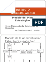Clase - Modelo Del Plan Estratégico