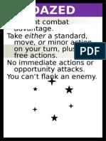 D&D 4 Condition Cards