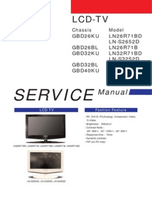 manual samsung TV LD | Electrostatic Discharge | Thin Film