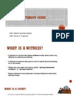 Witness Testimony Guide