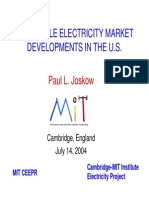Wholesale Power Markets in the United States