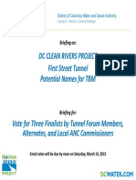 DC Water 1st Street Tunnel TBM DivP_List of Candidates for Voting 2015 03 06