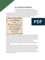 Concepto de Constitucionalismo