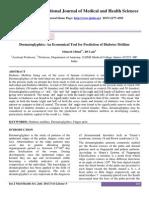 Dermatoglyphics an Economical Tool for Prediction of Diabetes Mellitus