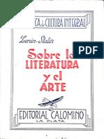 Sobre La Literatura y El Arte