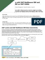 Using SAP Lumira With SAP NetWeaver BW and SAP NetWeaver BW on SAP HANA