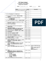 EOD Checklist