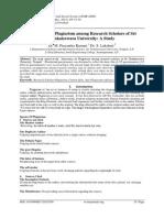 Awareness on Plagiarism among Research Scholars of Sri Venkateswara University
