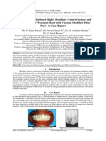 Management of Mutilated Right Maxillary Central Incisor and Reinforcement of Weekend Root with Custom Modified Fiber Post - A Case Report