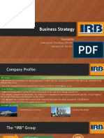 Project business strategy for IRB Infra