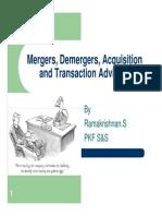 Merger Demerger Acquisiiton and Transaction Advisory