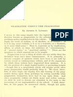 Pragmatism Versus the Pragmatist (A.O. Lovejoy)