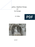 Lie Algebras, Algebraic Groups, And Lie Groups