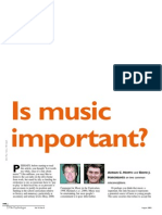Is Music Important