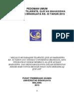 Buku Panduan Mtq Ub Tahun 2015