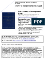 Exploration and Exploitation Within and Across Organizations