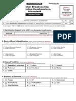 Pak Broadcast Corp Form