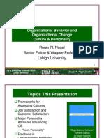 Organizational Behavior and Organizational Change Culture &