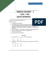 Class 10 Maths SA2 (2)