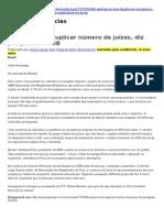 Brasil Precisa Duplicar Número de Juízes, Diz Pesquisa Da AMB