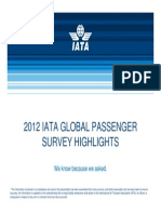 2012 Iata Global Passenger Survey Highlights