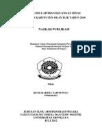 Analisis Laporan Keuangan Dinas