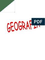 Geografía, resumen