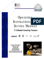 Operating Instructions and Service Manual Cooling Tower