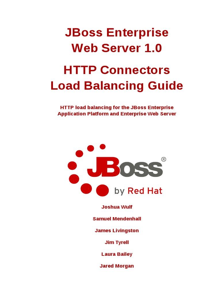 JBoss Enterprise Web Server 1 0 Load Balancing Guide | Web
