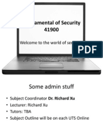 41900 Lecture 1 Information Security Design(1)