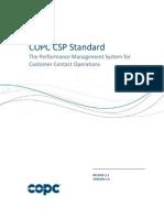COPC 2014 CSP Standard Release 5 2 Version 1 0
