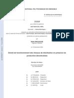 Sûreté de Fonctionnement Des Réseaux de Distribution en Présence Deproduction Décentralisée (These)