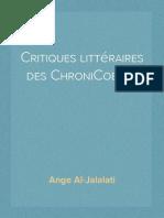 Critiques littéraires des ChroniCoeurs