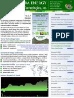 TEGR Investor Sheet