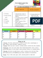Pre-K Literacy Unit Lesson Plan