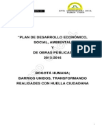 Plan de desarrollo territoria