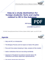 Italy as a Study Destination for Foreign Students