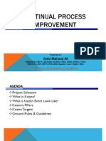 Continual Process Improvement With Kaizen v1