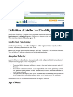 definition of intellectual disability