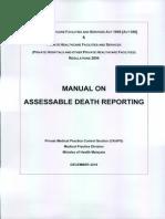 Manual on Assesable Death
