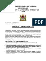 Tangazo La Kazi Kiswahili-07 MAR 2015