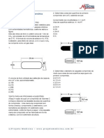 Matematica Geometria Espacial Cilindros Exercicios