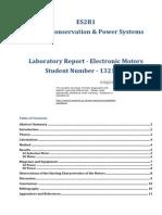 Laboratory Report Electronic Motors