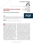 Bulletin of the Atomic Scientists Report on Britain Nuclear Arsenal (July/August 2013)