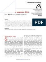 Bulletin of the Atomic Scientists Report on Israel Nuclear Arsenal (November/December 2014)