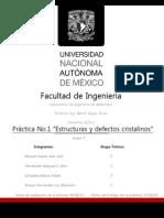 Practica 1 Estructuras y Defectos Cristalinos