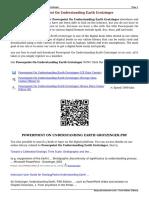 Powerpoint on Understanding Earth Grotzinger Eex2Y