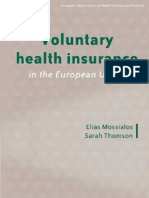 Voluntary Health Insurance in the European Union 2004