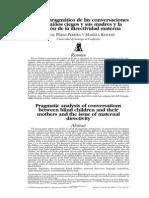 Análisis pragmático entre las conversaciones entre los niños ciegos y sus madres y la cuestión de la directividad materna.
